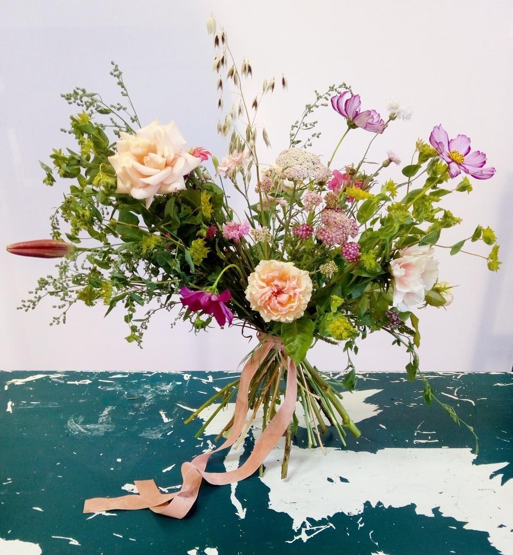Bouquet de mariée champêtre fleurs locales
