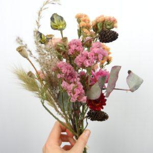 Bouquet de fleurs séchées locales