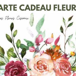 Carte cadeau fleurie