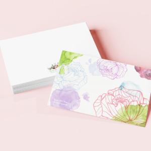 Carte Pierres Fleurs Ciseaux